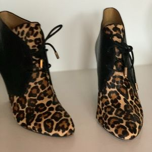 COACH Mercy Bootie Leopard & Black